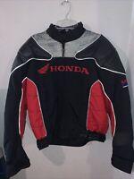 Honda Racing Coat Jacket Motorcycle Motorbike Padded Rider Collection Sz LG