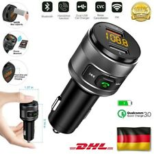 DE KFZ Car FM Transmitter Bluetooth USB Ladegerät Auto Radio MP3 Player Adapter