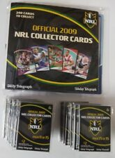 NRL 2009 Telegraph collectors FULL SET Album & 15 packs = 240 footy Cards MINT