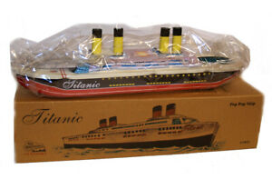 TITANIC TIN Litho TOY Steam Pop Pop BOAT Ship Direct from Factory NEW!