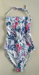 MONTE & LOU LADIES FLORAL BLOOM ONE PIECE SWIMSUIT SIZE 10 - Pre-Owned
