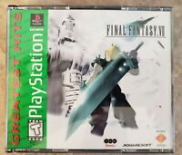Final Fantasy VII PS1 Greatest Hits (Green Label) COMPLETE CIB NEAR MINT