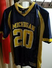 Vintage NCAA Michigan Wolverines Football Polyester Youth XL #20 Jersey