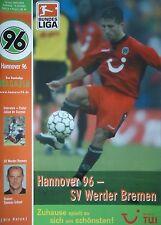 Programm 2002/03 Hannover 96 - Werder Bremen