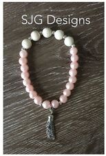 Women's bracelet-8mm round PRETTY PASTAL Collection ( Pale Pink) - new-free post