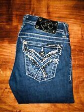 Miss Me Skinny JW5690S2 Embellished Flap Pocket Jeans 25 27x32 Actual