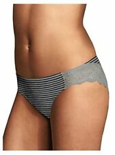 Maidenform Comfort Devotion Lace Tanga Panty 40159 Steel Pin Stripe 5 S FREE S&H