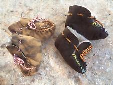 Sheepskin Brown beige Warm Soft Comfort Newborn Toddler 0-6 months Home Shoes