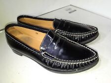 Tods Black Patent Leather Loafers Point Toe Loafers Slip On Womens Size 6.5