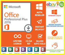 Microsoft Office 2016 Professional Plus Genuine Serial Key Code Instant Delivery