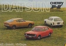 DATSUN - Cherry F-II 2 doors/3 doors/coupe brochure/prospekt/folder Dutch 1976