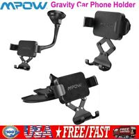Mpow Gravity Car Air Vent Phone Holder Mount Auto Lock Stand For iPhone Samsung