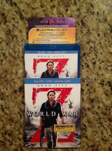 World War Z (Blu-ray/DVD, 2013, 2-Disc,Unrated,Digital Copy)Authentic US Release