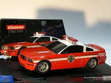Carrera evolution 27177 Ford Mustang Gt Fire Chief New