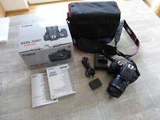 Canon EOS 2000D EF-S18-55 IS IIKit 24.1 Spiegelreflexkamera Mega Pixel neuwertig