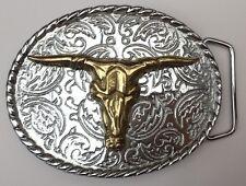 Steer Head Trophy Buckle Style Belt Buckle Vintage American Retro Classic