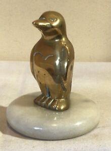solid brass PENGUIN statuette 73 mm