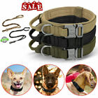 Tactical K9 Dog Training Collar Leash with Metal Buckle for L XL Pet Heavy Duty