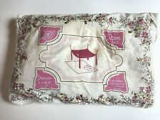 """Dream Tent Floating Canopy, H:84""""/W:48""""/L:8 3"""", Cream w/Pink Flowers&Gold Sequins"""