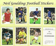 FKS Wonderful World of Soccer Stars 1972-1973 Football Stickers #1 to #330