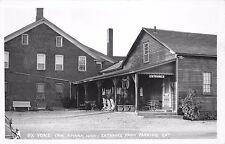 RPPC AMANA IA Ox Yoke Inn Entrance From Parking Lot Real Photo Postcard ca 1950s