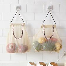 Multi-function Kitchen Wall Hanging Vegetable Mesh Storage Bag Organizer Pocket
