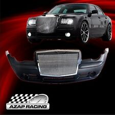 05-10 RR Style Front Bumper Cover Upper Grill No Fog Lamp For Chrysler 300C 4Dr