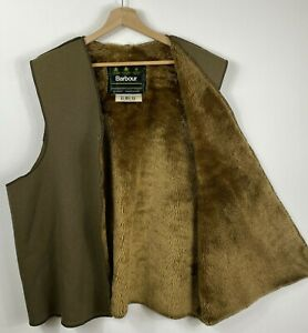 BARBOUR A297 Warm Pile Lining Faux Fur Acrylic Liner Insert Gilet for Wax Jacket