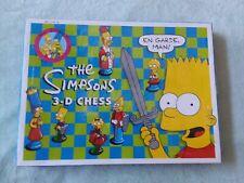 Vintage The Simpson TV Cartoon Complete Chess Set UNOPENED RARE! 1992!