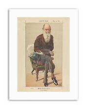 Disegno di Charles Darwin Vanity Fair selezione naturale disegno tela art prints