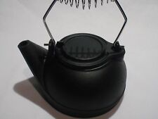 Black Vintag Wood Stove Cast Iron Kettle Humidifier steam with staycool handle