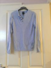 Women's Used River Island Blue Ribbed Long Sleeved Jumper Size Small