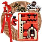 "Copper Brake Pipe Line Repair Kit Pipe End Flarer Cutter Bender 3/8"" UNF Nuts"