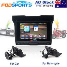 "5.0"" BT Motorcycle Car GPS Navigation Waterproof Motorbike SAT NAV 8GB +AU Maps"