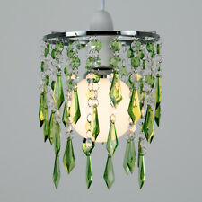 Modern Chrome  Green  Clear Ceiling Pendant Light Shade Chandelier Lampshade