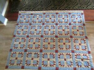 "Beautiful Handmade Quilt - Stunning condition - Beautiful Design. 76"" x 84"""