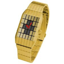 TOKYOFLASH SEAHOPE ELEENO LINES ANALOG GOLD LED WATCH, COOL, RARE, FUTURISTIC