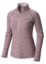NEW Mountain Hardwear Women's Butterlicious Stripe 1/2 Zip Size Large $70