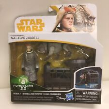 New Star Wars Force Link 2.0 Rebolt & Corellian Hound Figures W/ Cage Accessory