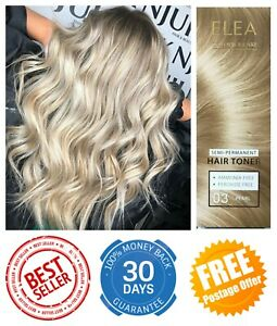 SEMI-PERMANENT HAIR TONER ELEA 03 PEARL BLOND DYE AMMONIA PEROXIDE FREE