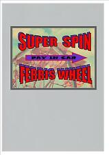 Grande roue style vintage aimant de réfrigérateur vintage forains aimant