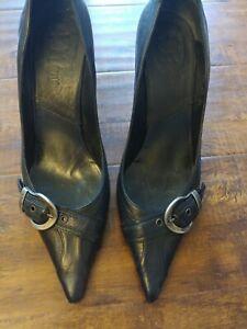 Dior D'trick Leather Pumps Size 42 - Black