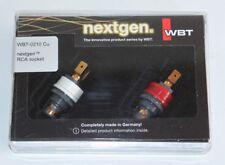WBT 0210 Cu nextgen RCA Cinch Einbaubuchsen Neu in OVP