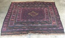 Hand Knotted Woven Atq Persian Asian Oriental Indian Style Wool Area Rug 50x44""