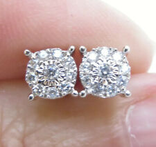 Sparkling Genuine 0.20ct Diamond Stud Earrings 9K Yellow Gold