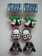 8 Starwars Yoda Darth Vadar Jibbitz Croc Clog Shoe Plug Charms Fit WristBands