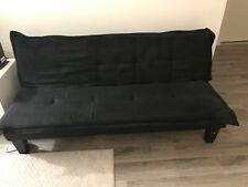 Homegear Modern Faux Leather Convertible 3 Seater Sofa / Futon Couch Guest Bed