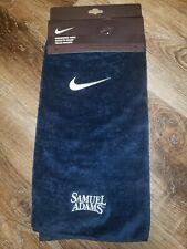 Nwt Nike golf towel, Samuel Adams embroidered, navy blue