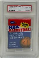 1986 FLEER NBA Basketball Wax PACK PSA NM-MT 8 Graded Michael Jordan Rookie Year
