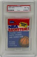 1986 FLEER NBA Basketball Wax PACK PSA NM-MT 8 Graded Michael Jordan Rookie Year
